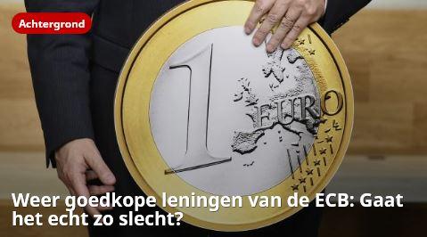 Weer goedkope leningen van de ECB: Gaat het echt zo slecht?